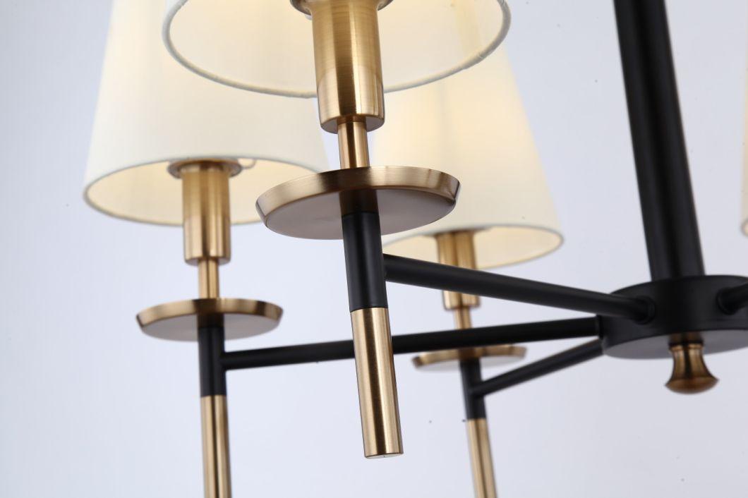 LED American Style Chandelier Living Room Simple Nordic Mediterranean Iron Lamp
