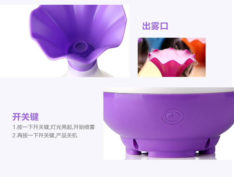 Very Hot Sale Ultrasonic Air Humidifier Purifier Aromatherapy Vase LED Aroma Diffuser