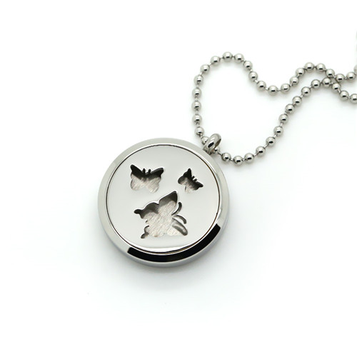 Stainless Steel Color Prefume Necklace Locket