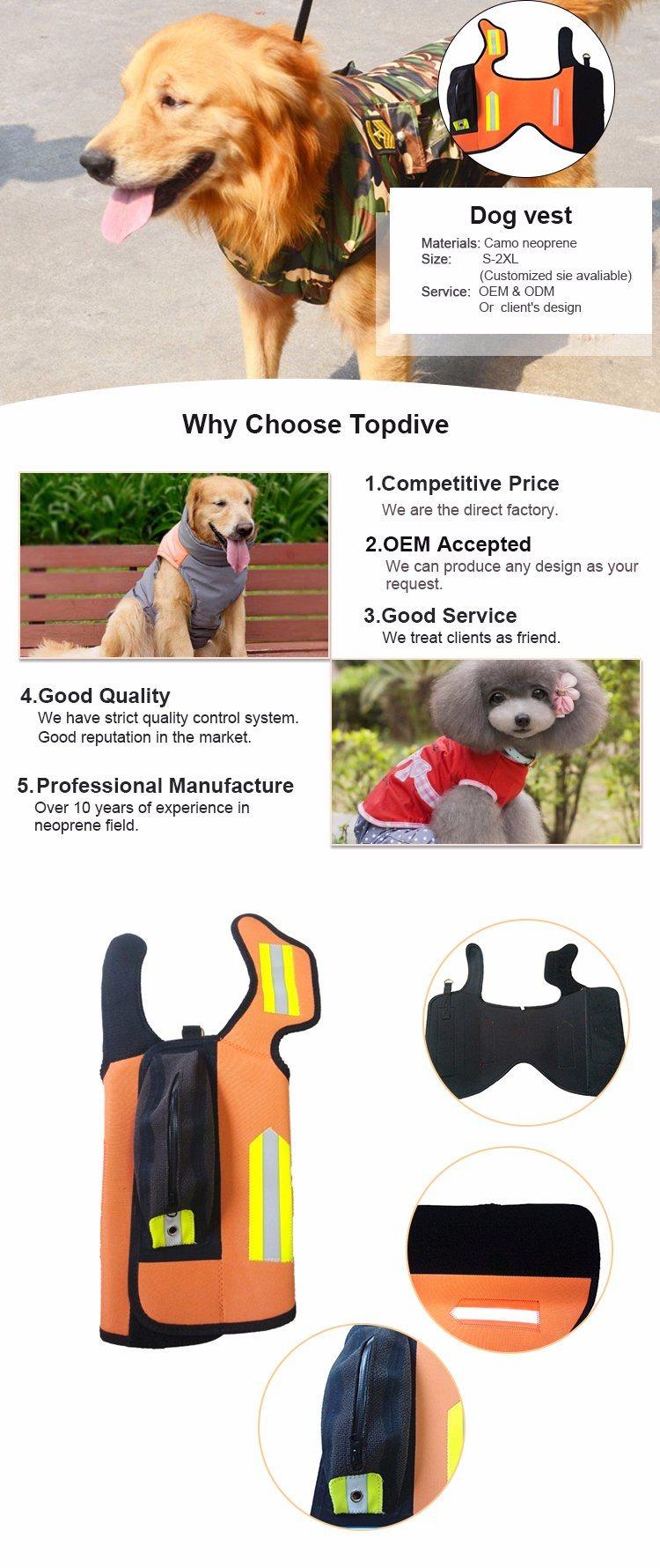 Full Size with Reflective Band Hunting Protecting Fluorescent Pigment Orange Reflective Dog Jacket