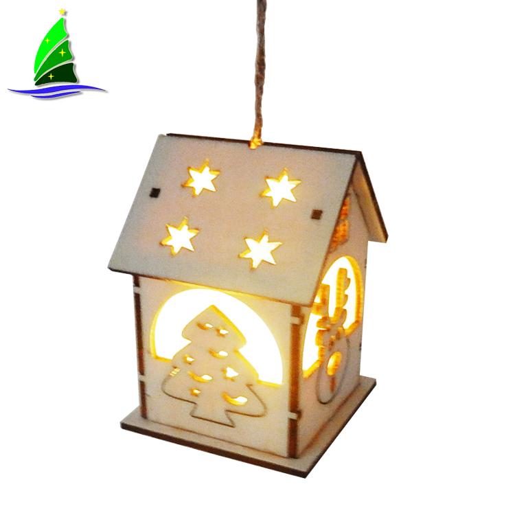 Christmas LED Light Wooden House