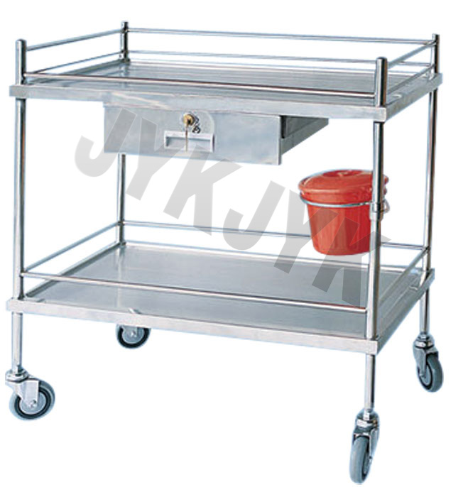 Stainless Steel Medical Treatment Trolley Jyk-C17