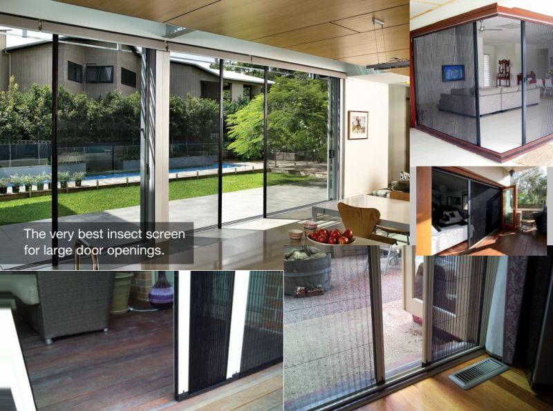 Large Opening Door Retractable Insect Screens