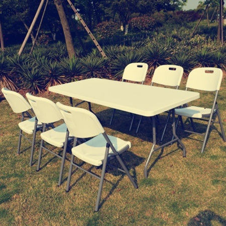 Rectangle Banquet Camping Table, Foldable Table, Garden Table