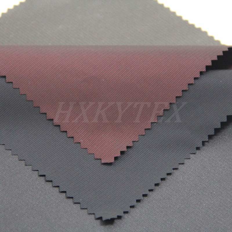 Striped Semi Memory Polyester Fabric for Men's Jacket