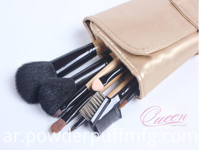 Wholesale Goat Hair Makeup Brush 9 Pieces Travel Cosmetic Brush