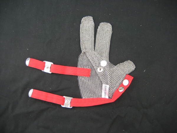 Steel Chain Mail Protective 3 Finger Work Glove