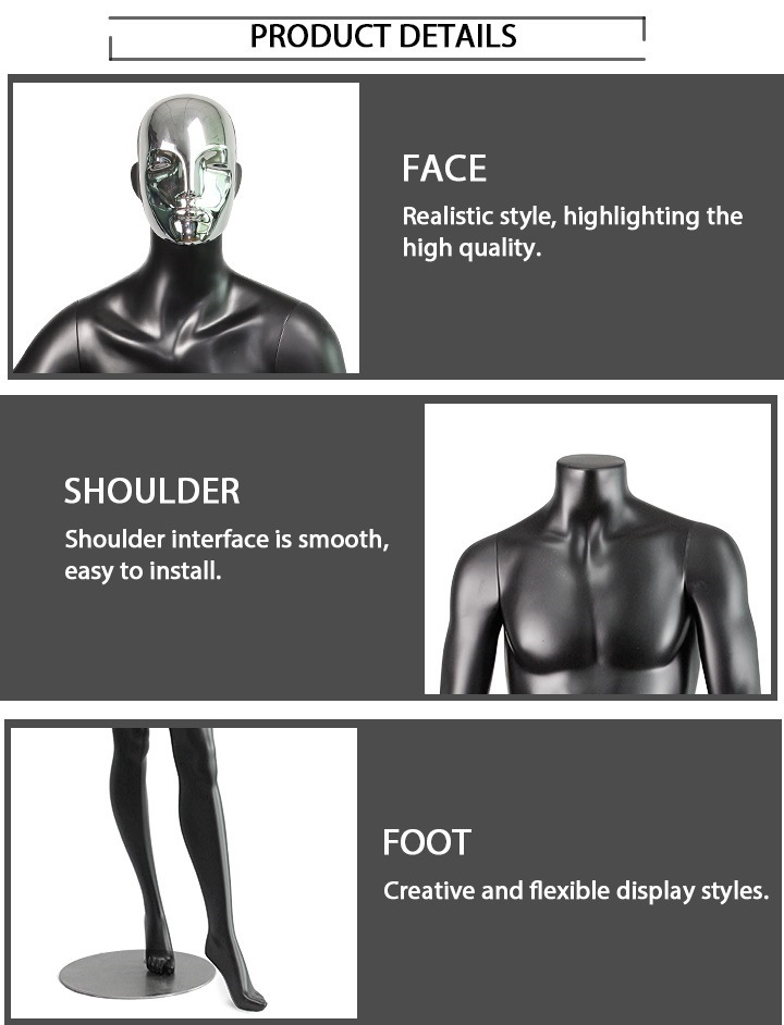 Customized Display Models Fashion Full Body Male Sport Mannequin