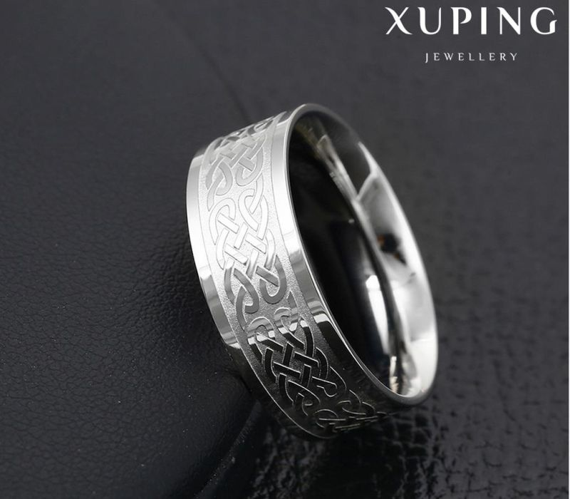 14012 Fashion Cool Round Silver-Plated Stainless Steel Jewelry Finger Ring