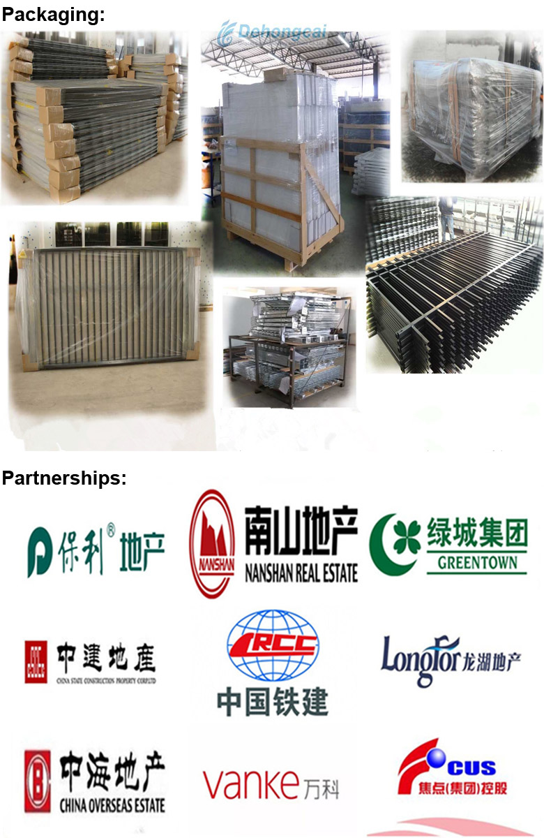Superior Quality Wrought Iron Rail in Concise Style