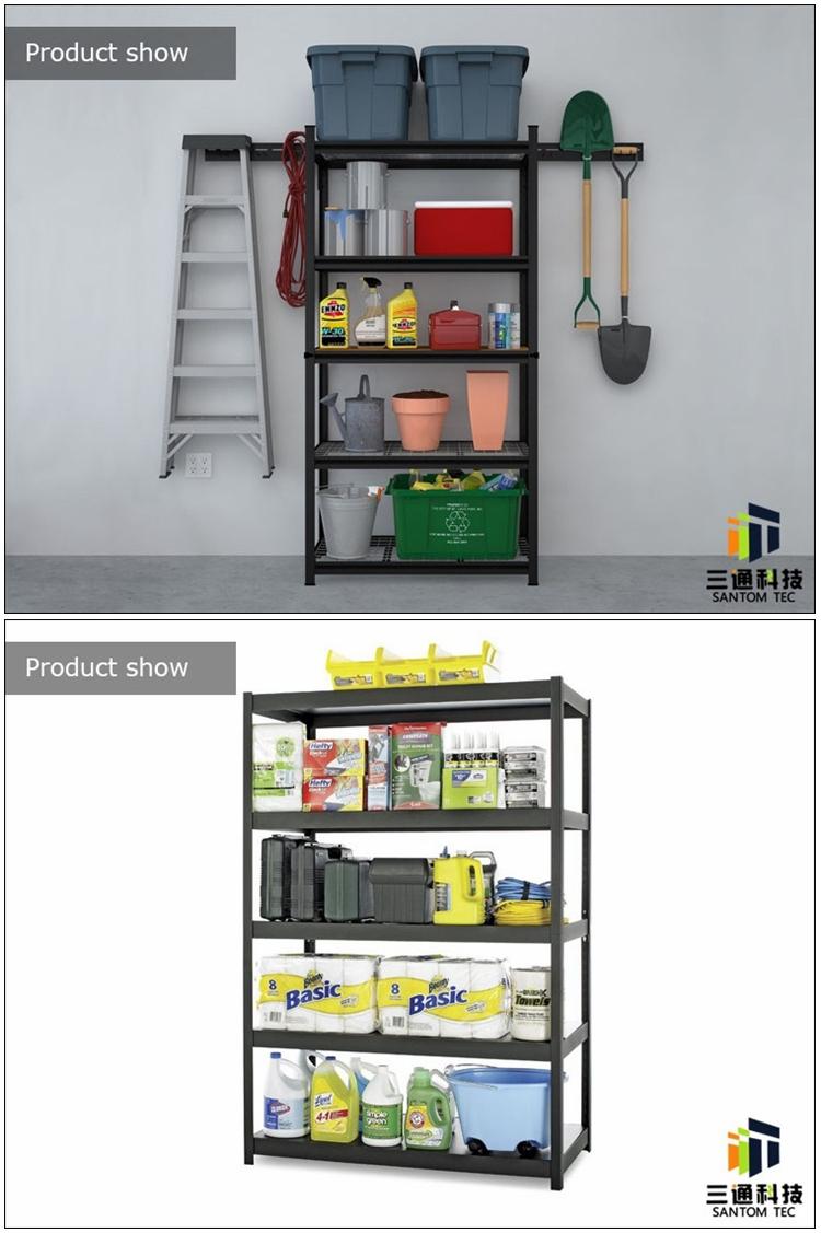 Light Duty Wharehouse Storage Slotted Angle Iron Rack
