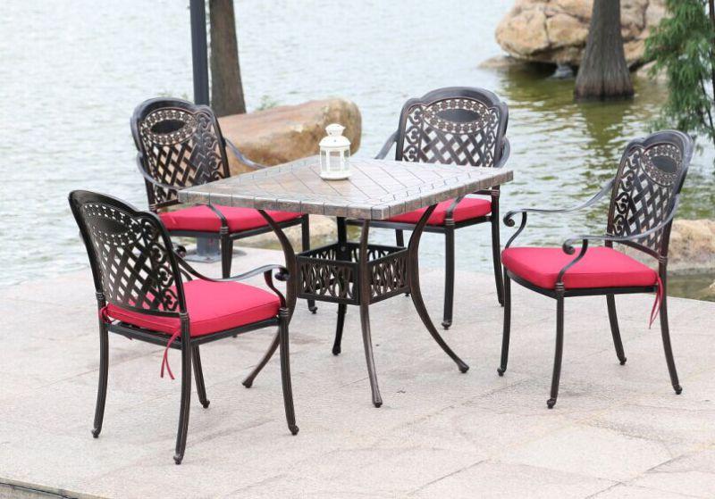European Outdoor Garden Cast Aluminum Garden Furniture Dining Chairs (D518; S218)