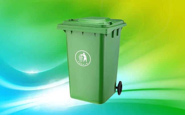 360 Liter Garbage Bin Outdoor Plastic Waste Bin (plastic dustbin) with En840