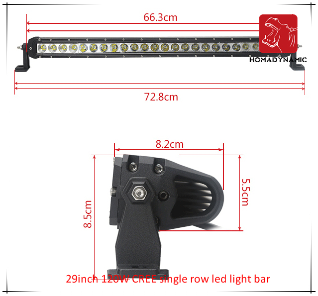 LED Car Light of 29inch 120W CREE Single Row LED Light Bar Waterproof for SUV Car LED off Road Light and LED Driving Light