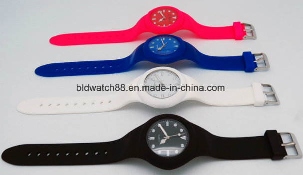 Silicone Hand Clocks Hot Selling Analog Sport Silicone Watches for Men Ladies