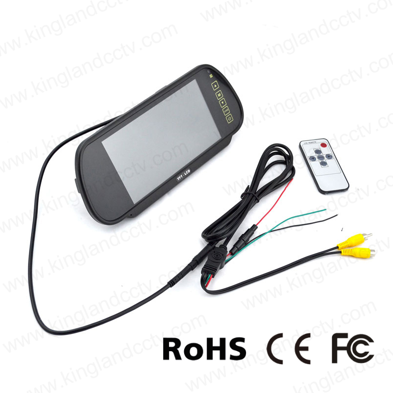 7inch Rear-View Mirror Monitor System with Car Mini Bumper Camera