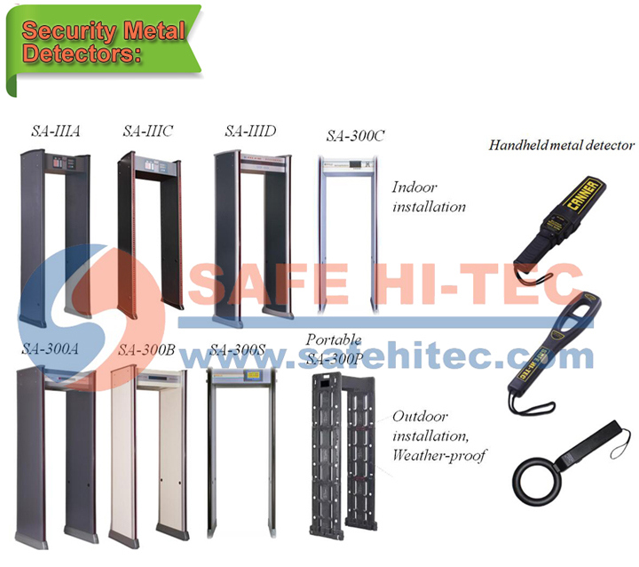 Airport Security Walkthrough Metal Detector Door Frame Archway Metal Detection for Hotel SA-IIIC