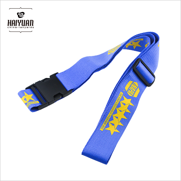 Nylon Luggage Belt with Solid Color Silk Screen High Quality Quick Release