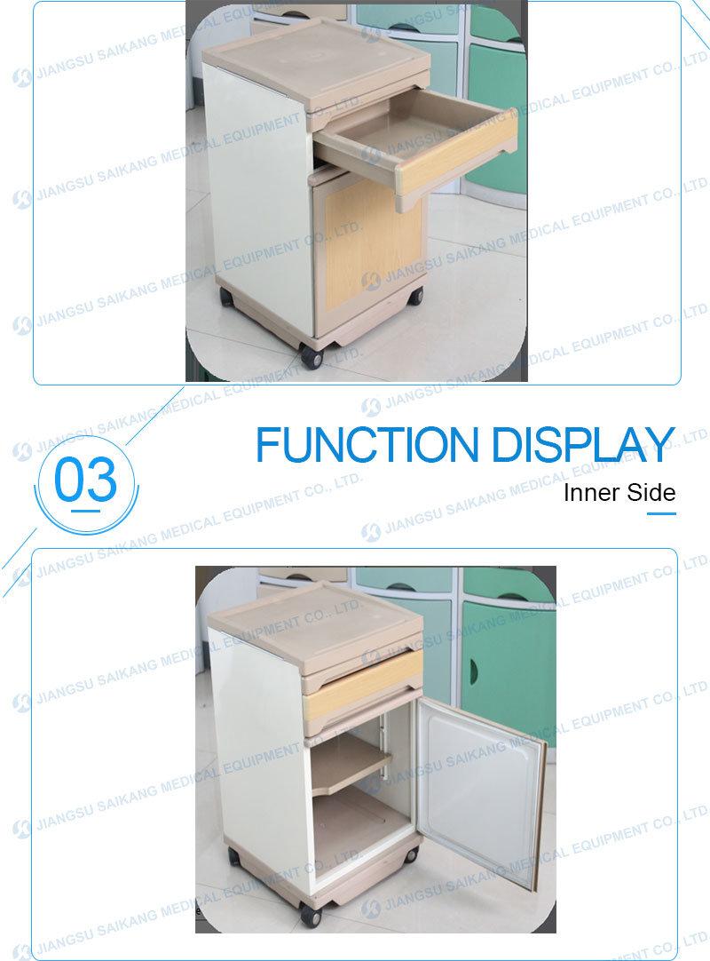Hospital Room Mobile Medical ABS Drawer Cabinet