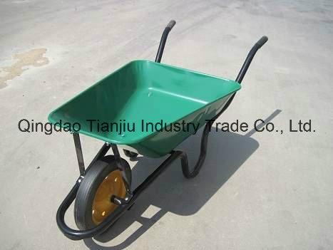 Wb3800 Sri Lanka 60L Market Yellow Color Concrete Wheelbarrow