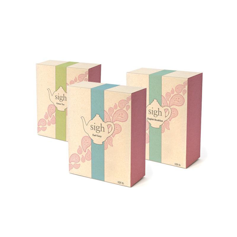 Custom Cardboard Promotional Tea Packaging Boxes