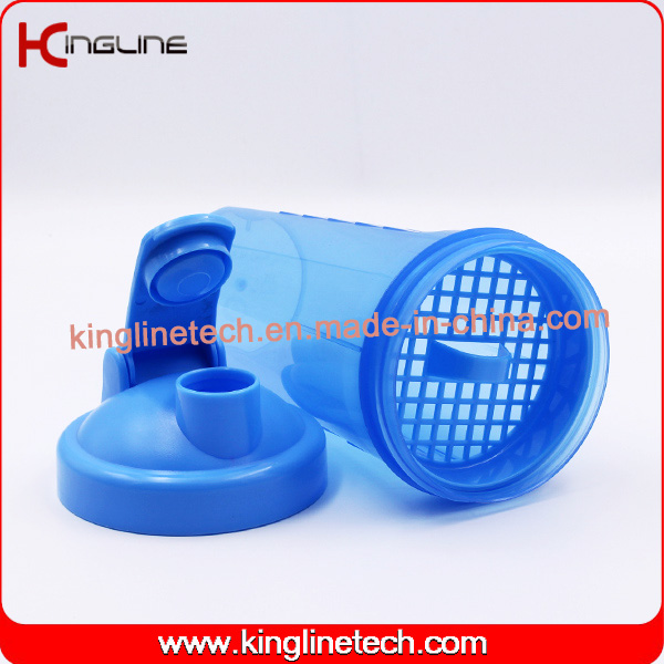 700ml new design plastic protein shaker bottle with filter(KL7020B)