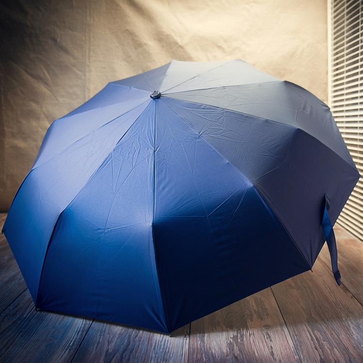Automatic Open Black Folding Type Golf Umbrella Rum0704-09