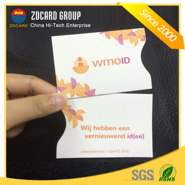 Waterproof Card Sleeve Card Holder with Aluminium Foil
