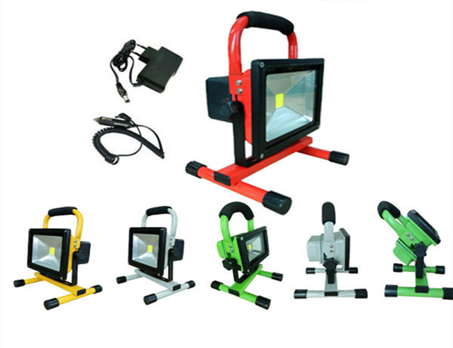 10W Portable Rechargeable Waterproof Outdoor LED Flood Lights