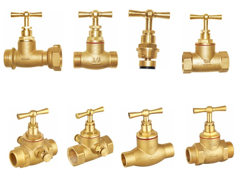 Brass Stop Valve for Water (a. 7017)