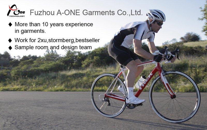 China Custom Cycling Blank Garments for Men