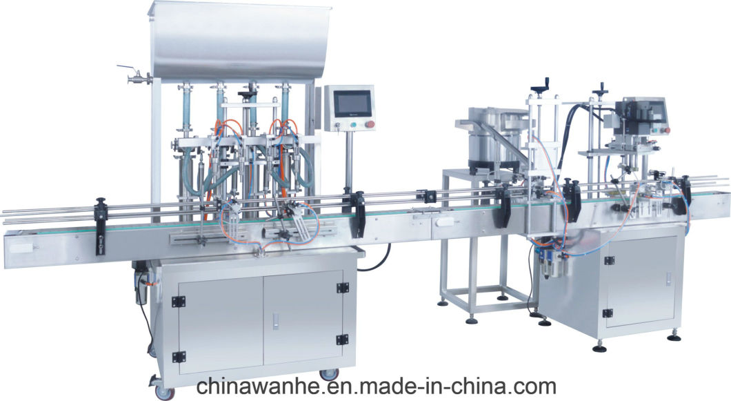 Hzgg500 Automatic 4 Heads Liquid Paste Oil Filling Capping Machine