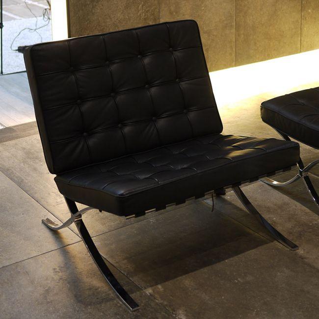 Barcelona Living Room Lounge Barcelona Chair with Ottoman