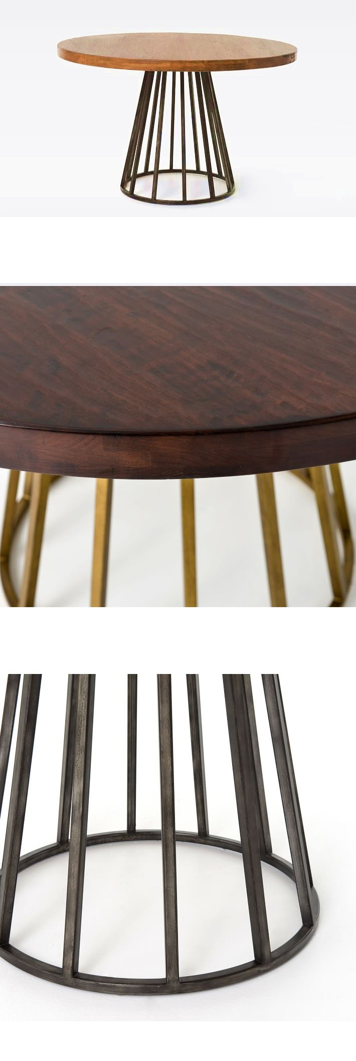 Wooden Round Coffee Dessert Dining Table