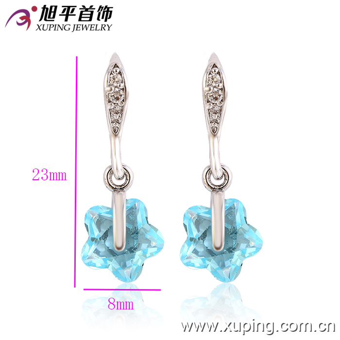 27917 Xuping Fashion CZ Rhodium Creative Jewelry Eardrop for Girls