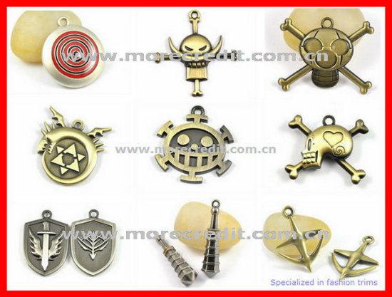 Fashion Star Shape Silver Metal Charm Pendant