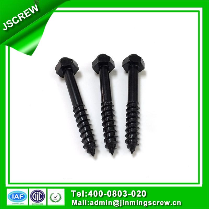 1/4*45 Black Color Hex Cap Self Tapping Wood Screw