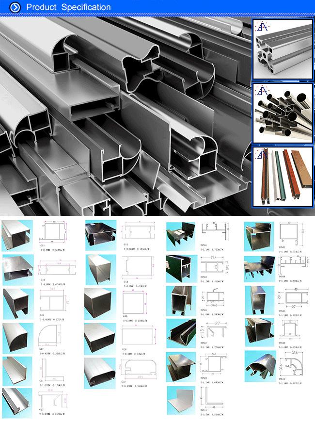 Brilliance 6063-T5 Custom Aluminum Extrusion Profile