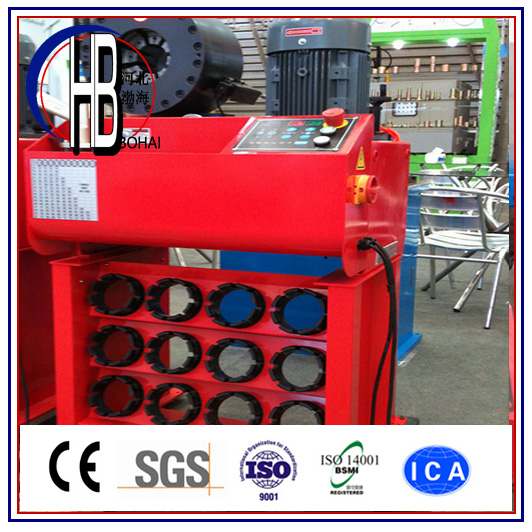Automatic Ce ISO 1/8-2'' 4sp Steel Wire Braided Hose Crimping Machine with Quick Change Tool