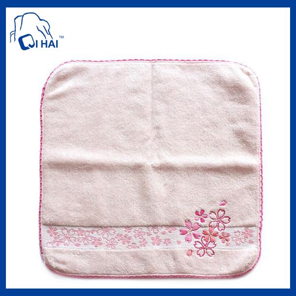 30cmx30cm Velour Embroidery Hand Towel (QH90033)