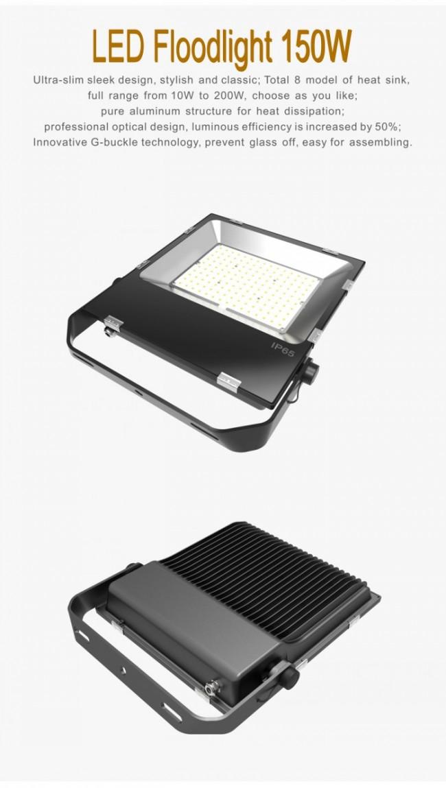 High Lumens 150W LED Floodlighting Osram 3030 Aluminum Outdoor