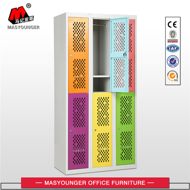 Commercial Use Metal 6 Door Mesh Door Locker with Lock