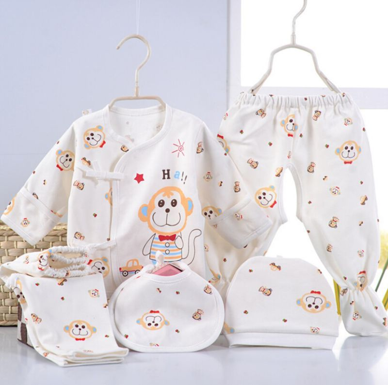 Cartoon Printing 5PCS Infant Apparel