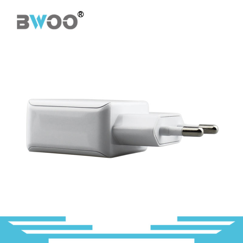 Dual Travel USB Wall Charger with EU Plug