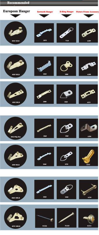 Brass Plated Picture Frame Hanger Picture Hanger European Hanger 10lb
