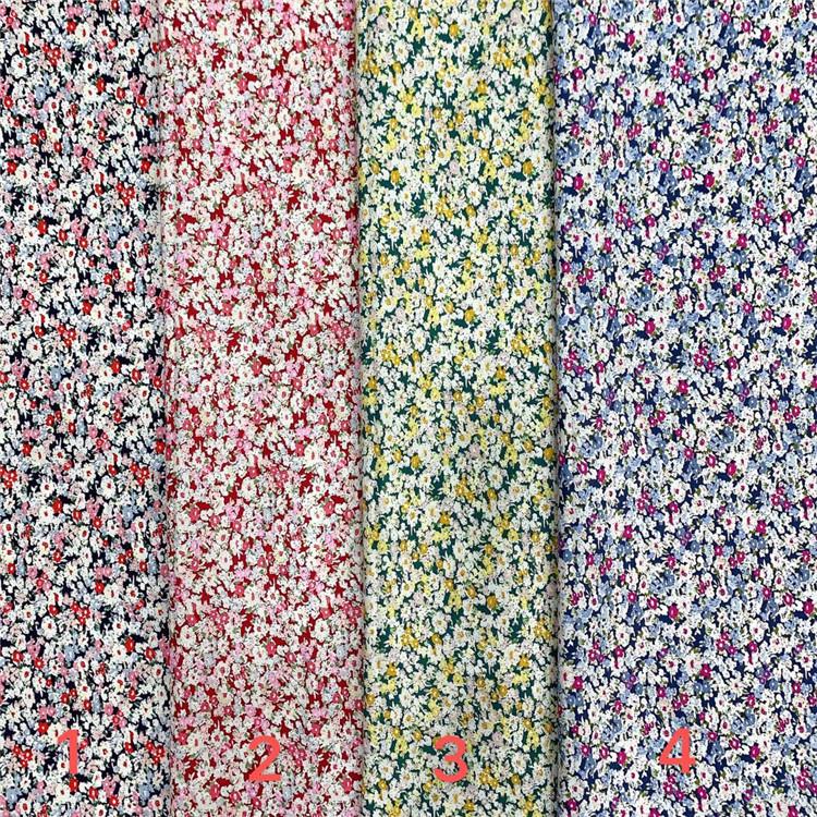 stocklot textile 100% cotton poplin digital printed fabric