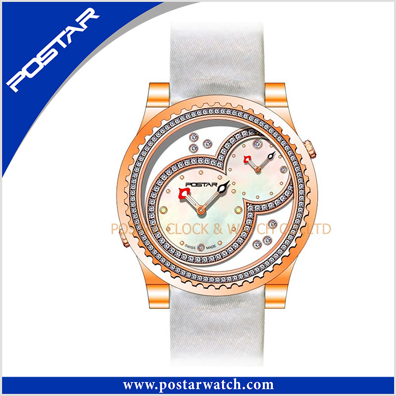 Double Swiss Movements for Latest Hot Sales Quartz Stainless Steel Wrist Watch