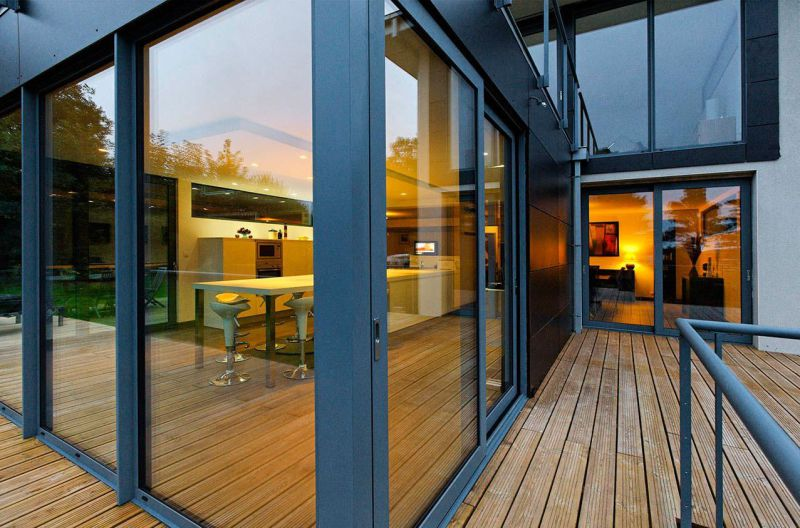 Sound Proof Double Glazed Aluminum Thermal Break Aluminium Sliding Door