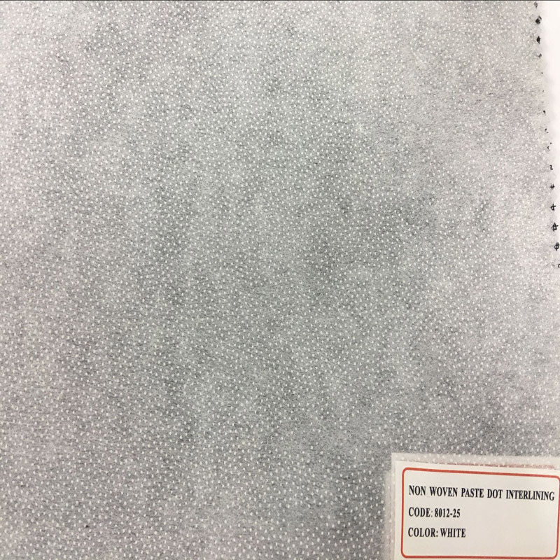 Polyester Non Woven Double DOT Fusible Interlining for Shirt Uniform Suit