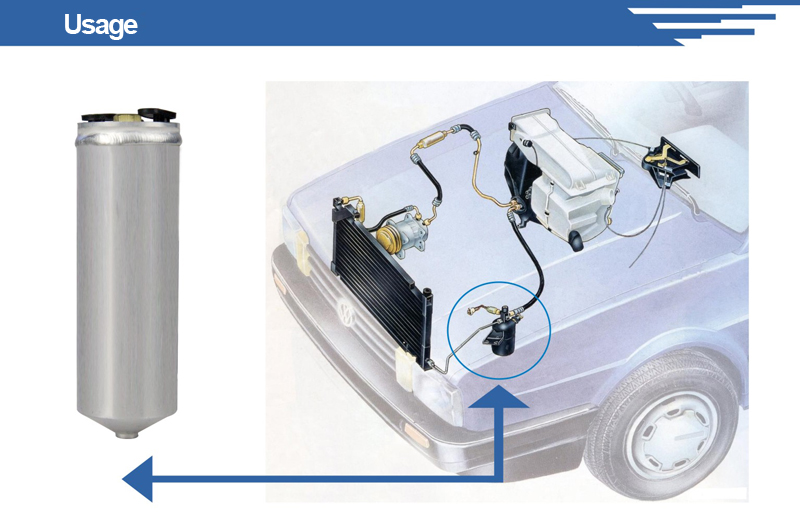 Customized Aluminum Astra G Receiver Drier with ISO Certificates